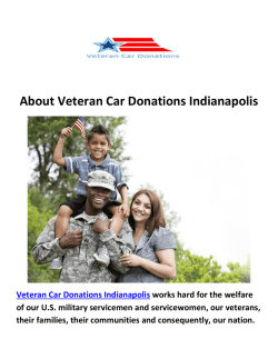 Veteran Car Donation Indianapolis