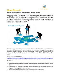 Luggage and Leather Goods Retailing in Denmark Market Size, Share, Growth and Trends 2020: Hexa Reports