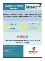 Corrosion Inhibitors Market - Global Industry Analysis, Size, Share, Growth, Trends and Forecast, 2013 – 2019