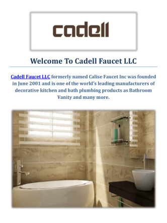 Cadell Faucet LLC   Bathroom Vanity in Fresno, CA