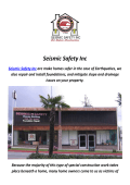 Seismic Safety Inc : Earthquake Retrofitting In Los Angeles