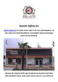 Seismic Safety Inc : Earthquake Retrofitting In Los Angeles
