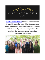 Christensen Law Offices : Personal Injury Attorneys in Las Vegas, NV