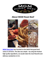 MGM Roast Beef Catering Washington, DC