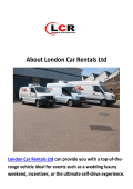 London Car Rental Ltd (44 20 8903 6000)