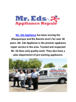 Mr. Eds Appliance Repair in Albuquerque, New Mexico