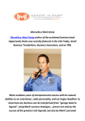 Marvelless Mark Kamp : Keynote Speaker In Cleveland