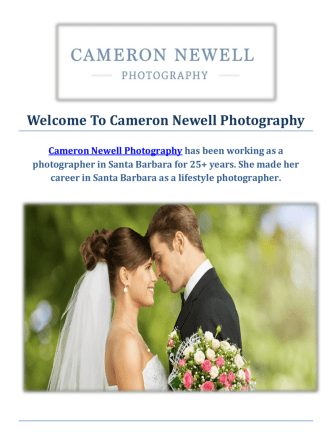 Cameron Newell Wedding Photographer in Santa Barbara, CA