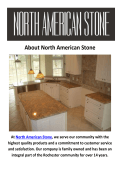 North American Stone Kitchen Countertops