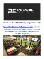 Prevail Conditioning Performance Gym Center in Santa Barbara