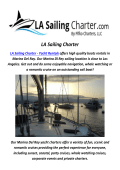 LA Sailing Charter : Yacht rental Venice In CA