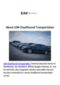 Limo Service White Plains, NY | LSW Chauffeured Transportation