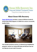 Drug Rehab in Los Angeles - Ocean Hills Recovery