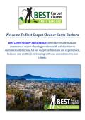 Best Carpet Cleaning Service in Santa Barbara, CA