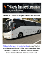 Tri County Party Bus Rental Transport Services in Charleston