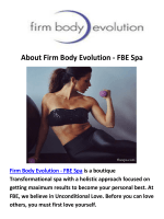 Firm Body Evolution - FBE Spa Wellness Center in Los Angeles
