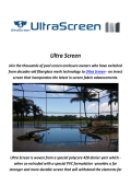 Ultra Screen : Pool Enclosures In Florida