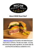 MGM Roast Beef Corporate Catering Washington, DC