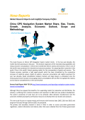 China GPS Navigation System Market | Share, Size and Trends