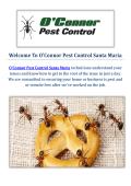 O'Connor Pest Control Company in Santa Maria, CA