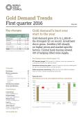 World Gold Council - Gold Demand Trends First Quarter 2016 (世界黃金協會 - 黃金需求趨勢報告2016第一季度)