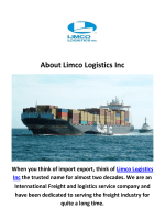 Limco Logistics Inc International Shipping Company