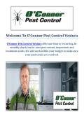O'Connor Pest Control Service in Ventura, CA