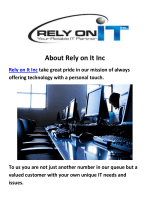 Rely on It Inc - It Support in San Jose