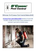 O'Connor Pest Control Company in Bakersfield, CA
