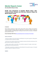 Health Care Equipment & Supplies Market Share, Size, Trends, Growth, Analysis and Overview, Research Report by Market Report Center