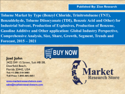 Toluene Market Research  Industry Analysis  Application  Supplier 2016-2020