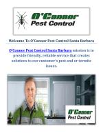 O'Connor Pest Control Company in Santa Barbara, CA