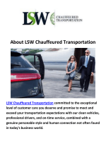LSW Chauffeured Transportation - Car Service in White Plains