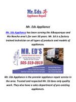 Mr. Eds Appliance Repair In Albuquerque, NM