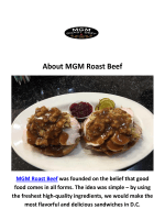 MGM Roast Beef Office Catering Washington, DC