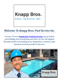 Knapp Bros. Inground Pools Service in Macomb, MI