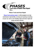 Phases Truck and Auto Repair In Colorado Springs