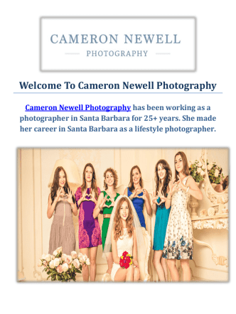 Cameron Newell Wedding Photographer in Santa Barbara