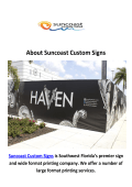Fort Myers Suncoast Custom Signs Company