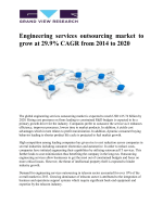 Engineering Services Outsourcing Market Is Expected To Reach USD 415.74 Billion By 2020, Growing At A CAGR Of 29.9% From 2014 To 2020: Grand View Research, Inc.