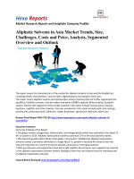Aliphatic Solvents in Asia Market Trends, Size, Challenges, Costs and Price, Analysis, Segmented Overview and Outlook