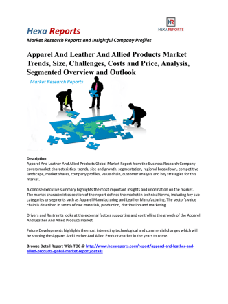 Apparel And Leather And Allied Products Market Segmented Overview and Outlook