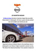 Ed Martin Nissan : Used Cars In Indianapolis