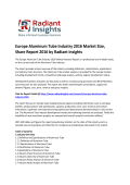 New Study - Europe Aluminum Tube Market Analysis Research Report To 2016: Radiant Insights, Inc