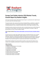 Europe Card Guides Market Growth, Trends Up To 2016: Radiant Insights, Inc