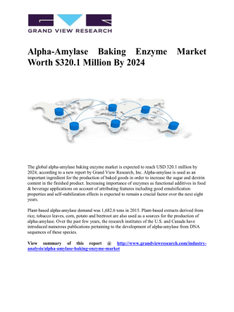 Alpha-Amylase Baking Enzyme Market To Grow Significantly Owing To Its Tremendous Use Animal Feed And Biofuels Applications Till 2024