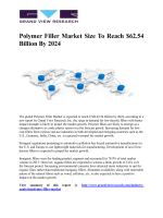 Polymer Filler Market  To Witness Swift Grow Owing To Enhanced Demand In Industrial Products And Packaging Across The End-Use Industries Till 2024: Grand View Research, Inc.