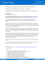 Military Unmanned Aerial Vehicle Industry: Study Development Trends, Growth, Competitive Landscape Analysis and Forecasts