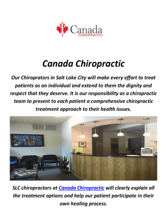 Canada Chiropractor In Salt Lake City, Utah