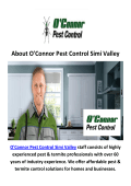 O'Connor Pest Control Service in Simi Valley